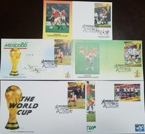 O) 1986 TUVALU, WORLD CUP SOCCER CHAMPIONSHIPS MEXICO-PLAYERS AND TEAMS FROM PARTICIPATING COUNTRIES, SET FDC XF - Tuvalu