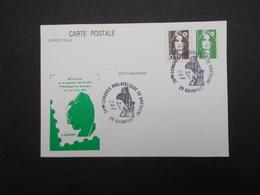 CARTE POUR LE 38ème CONGRES PHILATELIQUE DE BRETAGNE - Marcophilie (Lettres)