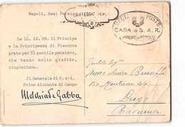 15969 01 FRANCHIGIA CARTEGGIO REALE CASA S.A.R. IL PRINCIPE DI PIEMONTE -CARTOLINA MARIA JOSE UMBERTO I -VARIE PIEGHE - 1900-44 Vittorio Emanuele III