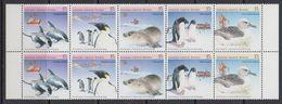 AAT 1988 Environment 5v Strip (pair) ** Mnh (41258C) - Australisch Antarctisch Territorium (AAT)