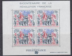 TAAF 1989 French Revolution / Revolution Francaise M/s ** Mnh (41259A) - Blokken & Velletjes