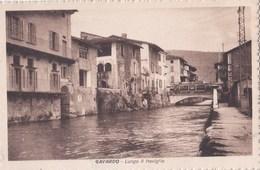 Cartolina : Gavardo Brescia  (Italie) Lungo Il Naviglio    Ed    Ditta  Rara - Italia