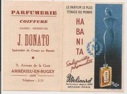 "L150b937 - Calendrier Parfumé ""Habanita"" Parfumeur Molinard - Année 1960  - L.Carestia - Perfume Cards"