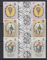 Falkland Islands 1981 Royal Wedding 3v Gutter ** Mnh (41259F) - Falklandeilanden