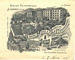 CORSE - Lettre De 1905 (en Langue Allemande) Sur Papier Illustré Du GRAND HOTEL D'AJACCIO - 1905 - Manuscrits