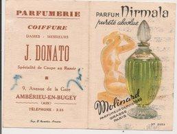 "L150b939 - Calendrier Parfumé ""Nirmala"" Parfumeur Molinard - Année 1959 - L.Carestia N°2052 - Perfume Cards"