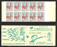 FRANCE 1962-65 COQ DE DECARIS CARNET YT N° 1331A-C2 ** - 1962-65 Coq De Decaris