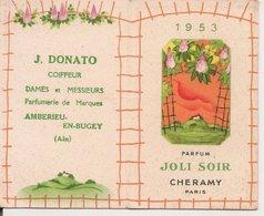 """L150b940 - Calendrier Parfumé """"Joli Soir"""" Parfumeur Cheramy - Année 1953 - Perfume Cards"""