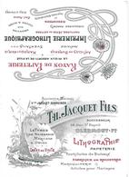 Pub Calendrier 1911 - Imprimerie JACQUET - Lithographie - Art Nouveau - Pa Carte Postale - - Clermont Ferrand