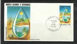 Nouvelle Calédonie   FDC YT  478 Protection De La Nature L 'eau Ressource Vitale - Environment & Climate Protection