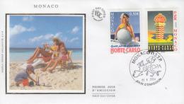 Enveloppe  FDC  1er  Jour   MONACO   Paire   EUROPA   2004 - Europa-CEPT