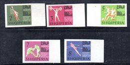 609/1500A - ALBANIA 1963 , Serie Yvert N. 641/645 (Michel 768/772) ***  MNH NON DENTELLATA - Albania