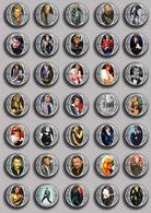 Johnny Hallyday Music Fan ART BADGE BUTTON PIN SET 20 (1inch/25mm Diameter) 35 DIFF - Music