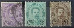 Italie N° 52 à 54 De 1890 - Oblitérés