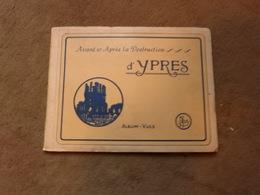 Livre Album Vues Ypres Avant Et Après La Destruction 20 Cartes Postales Non Détachées - Livres