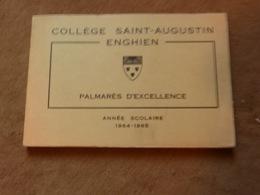 Palmarès D'excellence Collège Saint-Augustin Enghien 1964-1965 Photos De Classe - Livres, BD, Revues