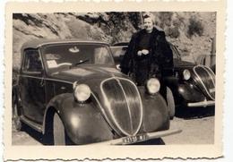 FOTOGRAFIA - AUTOMOBILE - CAR - FIAT TOPOLINO - FIAT 500c? - Formato Cm. 8,5 X 5,5 Circa - Vedi Retro - Automobili