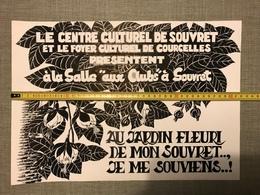 DESSIN AFFICHE ORIGINAL C C SOUVRET F C COURCELLES DUPRIX '80 - Posters