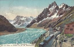 74 CHAMONIX MONT BLANC GARE ARRIVEE TRAIN A CREMAILLERE DU MONTENVERS GLACIER DE LA MER DE GLACE  ED JULLIEN JJ 8847 - Chamonix-Mont-Blanc