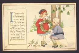Girls Making Holly Wreath Snow - Margaret Evans Price M.E.P. A/s - Natale