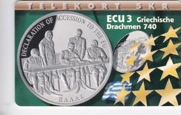 Denmark, P 153, ECU - Greece, Mint, Only 700 Issued, Coins , Flag, 2 Scans.   Please Read Desc. - Denmark