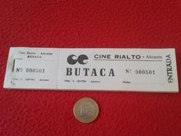 SPAIN. TALONARIO CON 100 ENTRADAS CINE RIALTO ALICANTE. ENTRADA OLD TICKET TICKETS CINEMA BIGLIETTO BIGLIETTI VER FOTO/S - Tickets - Entradas