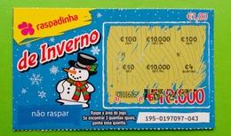 Billet De Loterie Instantanée, Portugal - Lottery Tickets