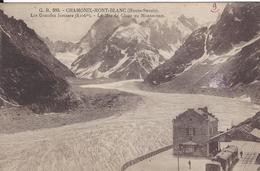74 CHAMONIX MONT BLANC GARE ARRIVEE TRAIN A CREMAILLERE DU MONTENVERS GLACIER DE LA MER DE GLACE ED FAURAZ GR 583 - Chamonix-Mont-Blanc