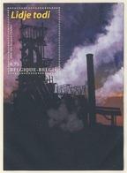 Belgie Belgique Belgium 2004 B95 (=Mi 3326) SG MS 3823 ** Blast Furnace, Seraing- Lîdje Todi / Förderturm Kohlebergwerks - Fabrieken En Industrieën