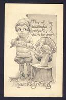 Thanksgiving - Boy Axe In Stump Turkey - Wall A/s - Thanksgiving