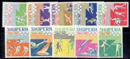 618/1500A - ALBANIA 1964 , Serie Yvert N. 707/716 (Michel 870/879) ***  MNH - Albania
