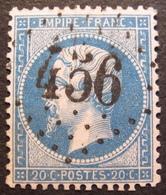 R1494/245 - NAPOLEON III N°22 - GC 456 : BESANCON (Doubs) - 1862 Napoleon III