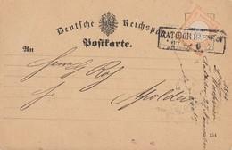 DR Karte EF Mnr.18 R2 Ratibor Bahnhof 27.11.74 Gel. Nach Apolda - Deutschland