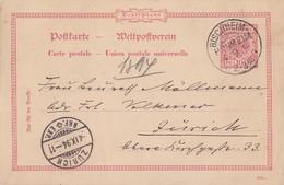 DR GS-Karte KOS Bischheim-Hönheim 4.9.94 Gel. In Schweiz - Briefe U. Dokumente