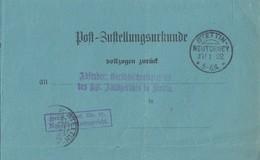 DR Post-Zustellungsurkunde KOS Stettin-Neutorney 27.1.02 - Briefe U. Dokumente