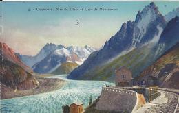 74 CHAMONIX MONT BLANC  LOT 5 CARTES GARE ARRIVEE TRAIN A CREMAILLERE DU MONTENVERS GLACIER DE LA MER DE GLACE - Chamonix-Mont-Blanc