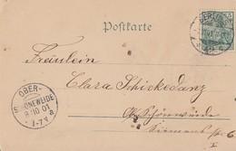 DR Glitzer-Karte EF Minr.55 KOS Ankunftsst. Ober-Schöneweide 8.10.01 - Briefe U. Dokumente