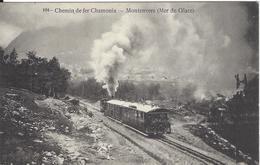 74 CHAMONIX MONT BLANC  TRAIN A CREMAILLERE DU MONTENVERS GLACIER DE LA MER DE GLACE VERS LES PLANARDS N° 104 - Chamonix-Mont-Blanc