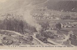 74 CHAMONIX MONT BLANC  TRAIN A CREMAILLERE DU MONTENVERS GLACIER DE LA MER DE GLACE VERS LES MOUILLES EDITEUR LJL 9 - Chamonix-Mont-Blanc