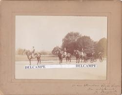 Attelage Dirigé Par Le Piqueur De L'Élysée ( à Cheval ) Louis MONJARET Par Le Ph. Miekel ( Cachet Sec )  1880/90 - Photos
