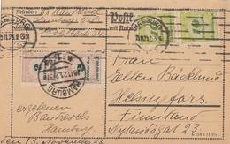 DR Karte Mif Minr.2x 326A,2x 328A Hamburg 15.11.23 Gel. Nach Finnland - Deutschland