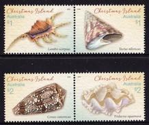 Christmas Island 2016 Shells 4v MNH **  12,00 € - Christmas Island