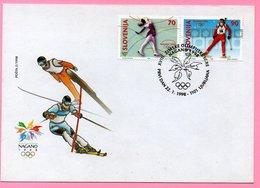 Skiing - Olympic Games Nagano 1998., Slovenia, FDC 2/1998 - Slovenia