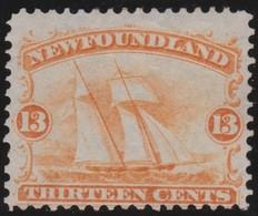 Newfouindland     .     Yvert  25       .        (*)              .              Geen  Gom  /   No Gum - 1865-1902
