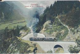 74 CHAMONIX MONT BLANC  TRAIN A CREMAILLERE DU MONTENVERS GLACIER DE LA MER DE GLACE VERS LE TUNNEL DES PLANARDS SERRUS - Chamonix-Mont-Blanc