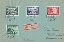 DR R-Brief Mif Minr.704,705,708,713 Dresden 21.3.40 - Briefe U. Dokumente