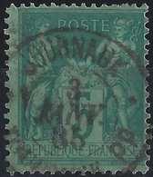 1876 Sage N/U N°75 5c Vert Oblitéré Dateur Journaux Toulouse PP En Noir TTB - 1876-1898 Sage (Type II)