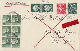DR Brief Eilbote Mif Minr.660,661,6x 666,2x 689 Schweidnitz 7.7.39 - Briefe U. Dokumente
