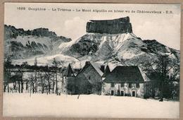 38 / Mont Aiguille En Hiver Vu De Châteauvieux (Chichilianne) - Altri Comuni