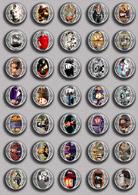 Johnny Hallyday Music Fan ART BADGE BUTTON PIN SET 21 (1inch/25mm Diameter) 35 DIFF - Music